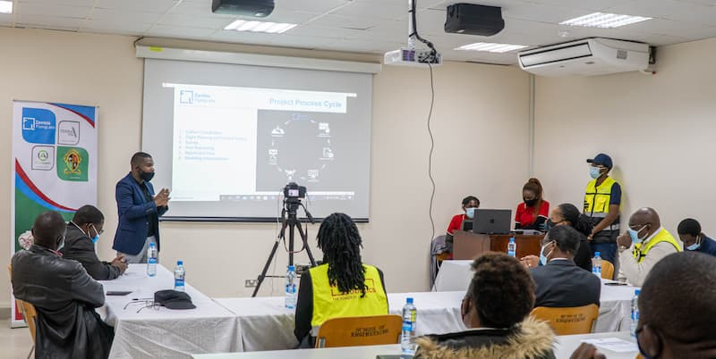 Zambia Flying Labs hosts a training on waste management using drones